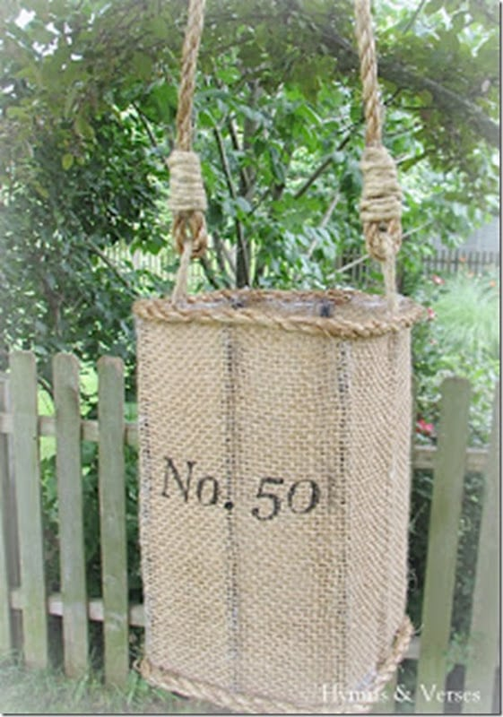 DIY Knock Off Anthropologie Jute Hurricanes