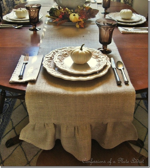 DIY Ruffled Table Runner Tutorial