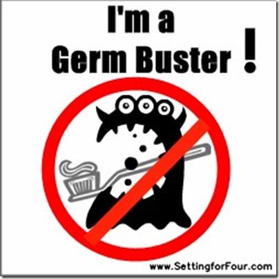Clean your toothbrush - I'm a germ buster from Setting for Four #germ #toothbrush #cleaning #tip