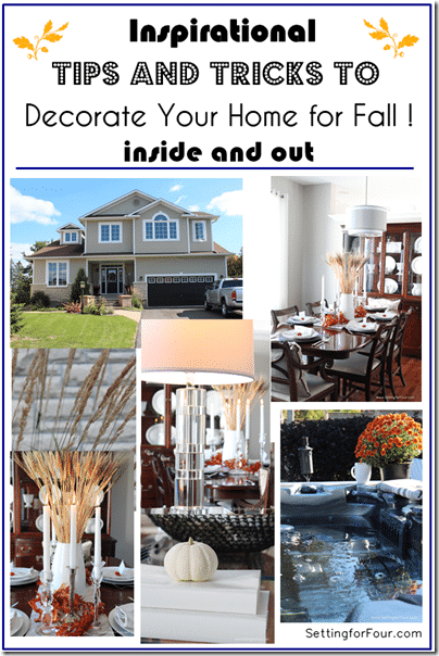 Inspirational Tips and Tricks to Decorate Your Home for Fall at Setting for Four