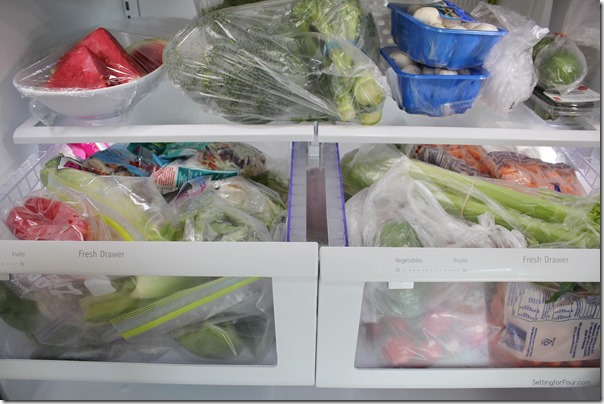 Large Vegetable Drawers Frigidaire Refrigerator from Setting for Four