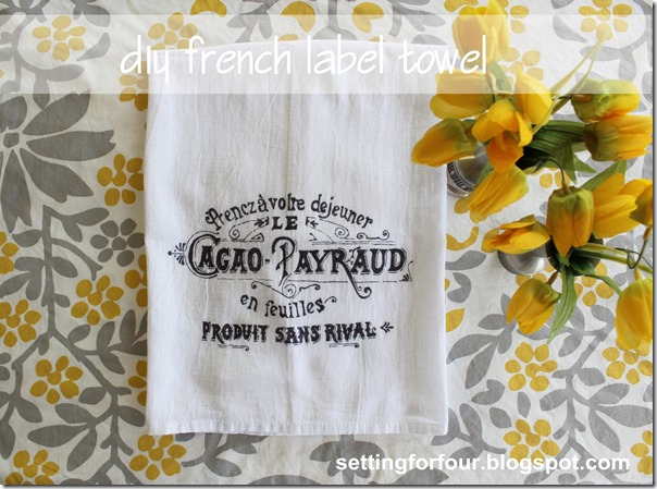 Make a DIY French Label Towel #diy #craft #towel #french