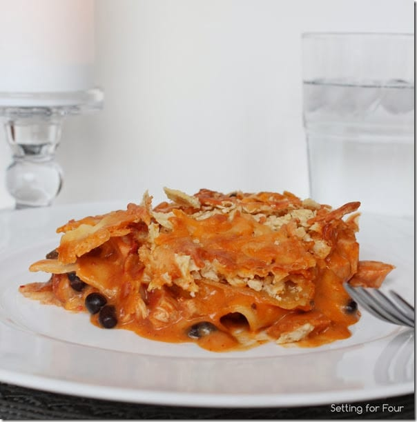 Mexican Lasagna Recipe with Tortilla Chip Topping