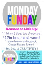 Share your recipes and projects at Monday Funday Link Party - 1 link on 8 blogs | www.settingforfour.com