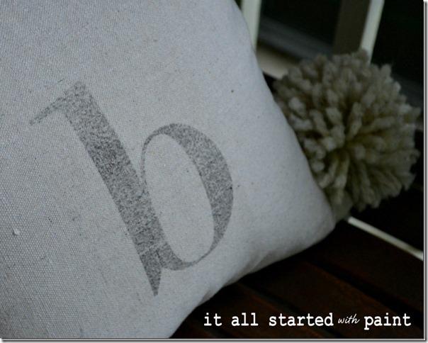 Monogram Drop Cloth Pillow DIY