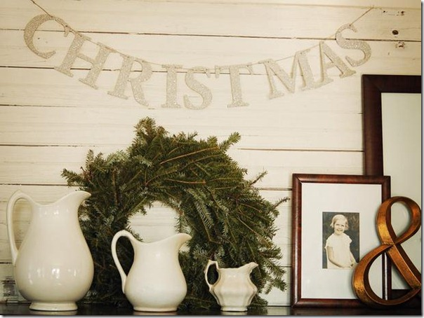 Christmas Decor Ideas from Setting for Four #Christmas #Decor #Design #Ironstone #Banner