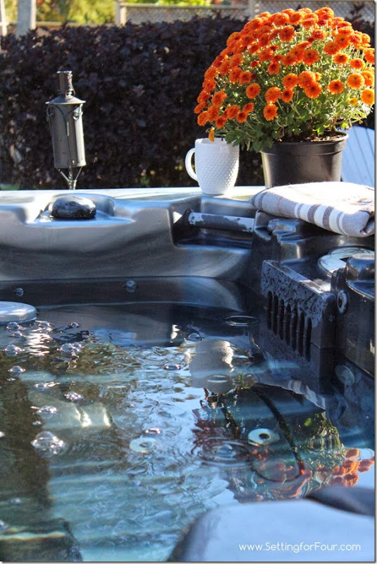 Our hot tub at Setting for Four