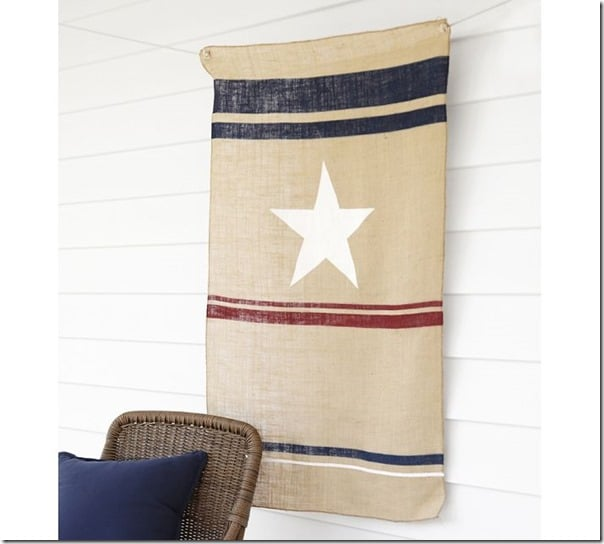 PB-burlap-flag create and babble