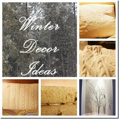 Winter Decor Ideas - 5 tips from Setting for Four #winter #decor #tips #white