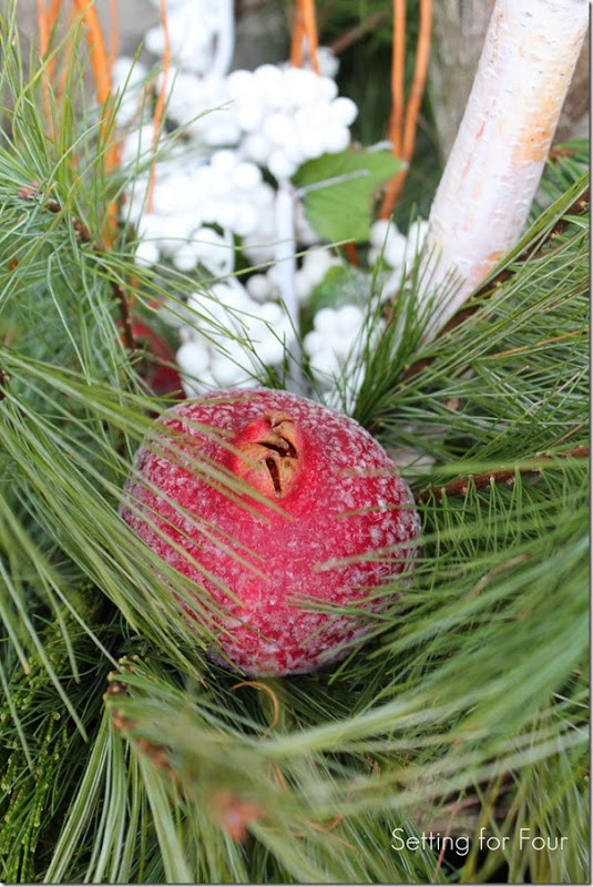 Pomegranates in Christmas Urns