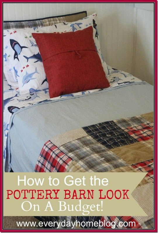Pottery Barn Kids Inspired Bedroom Decor