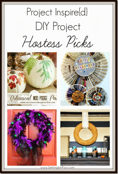 Project Inspired DIY Project Hostess Picks Setting for Four