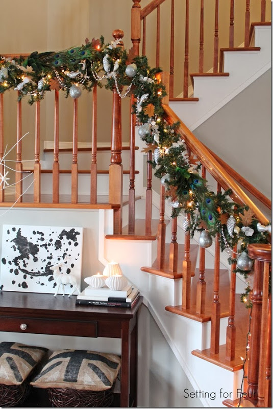 Railing Christmas Garland