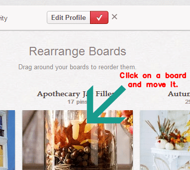 How to Rearrange Pinterest Boards from Setting for Four #tutorial #blog #trick #tip #pinterest