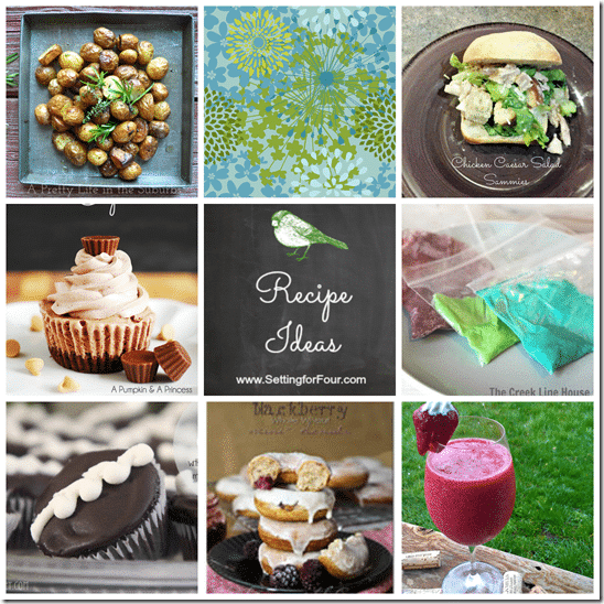 Recipe Ideas from Setting for Four #recipe #dish #dinner #dessert