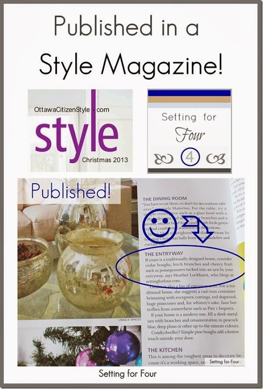 Setting for Four is Published in a Style Magazine