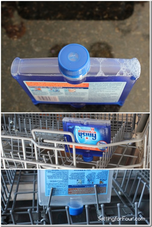 Steps to using Finish Dishwasher Cleaner Setting for Four