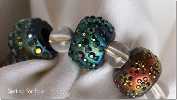Sting Beads onto Napkin Ring