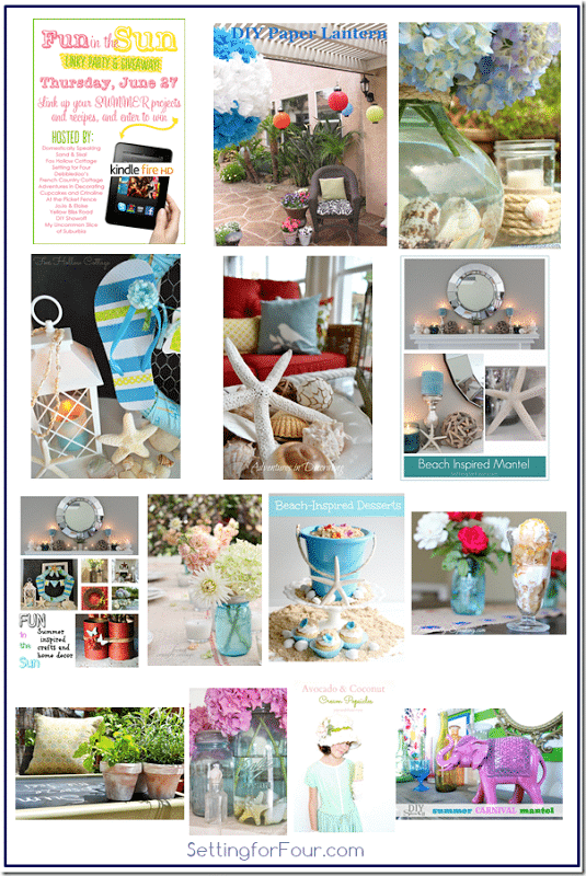Summer Home Decor, DIY's and Recipes from Setting for Four