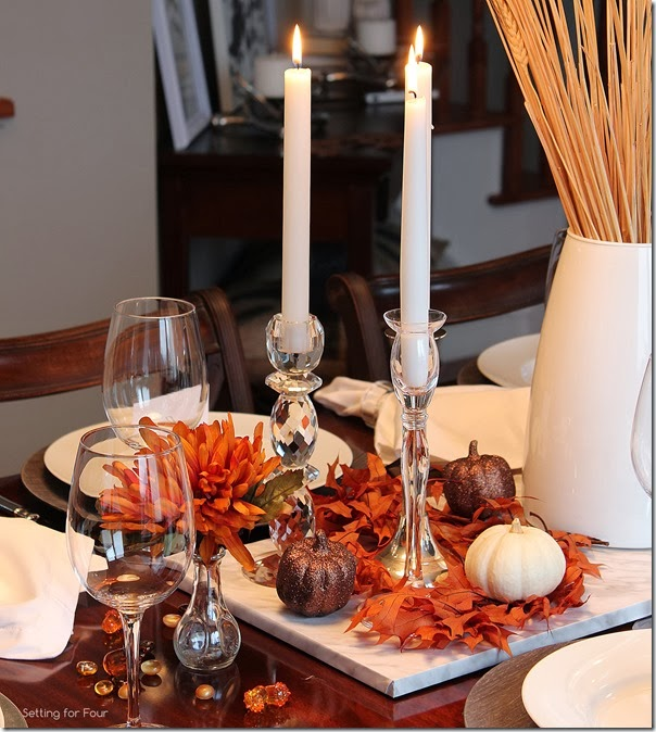 Tablescape and candlelight