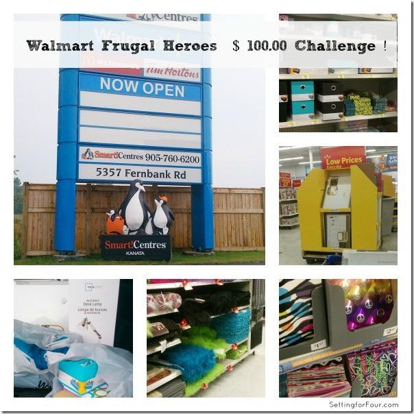 Walmart Frugal Heroes Challenge www.settingforfour