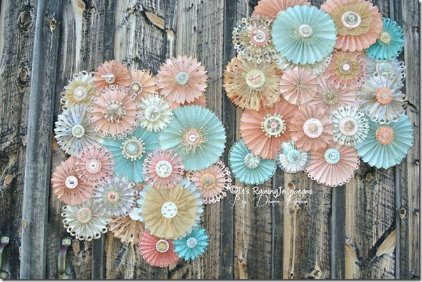 Wedding Rosette Wall Decor