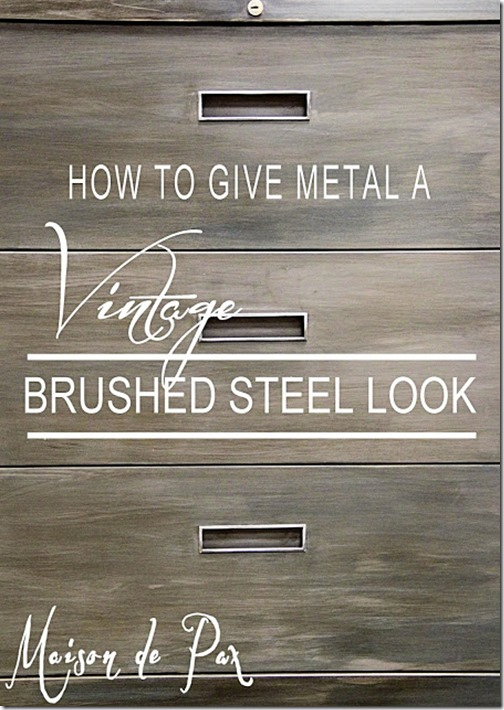 brushed steel look sign cool