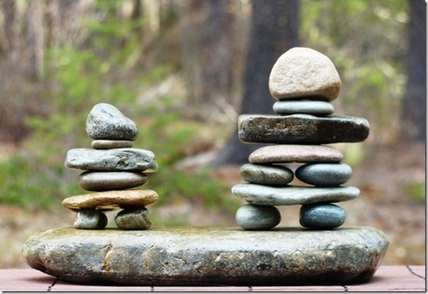 how to build a mini inukshuk