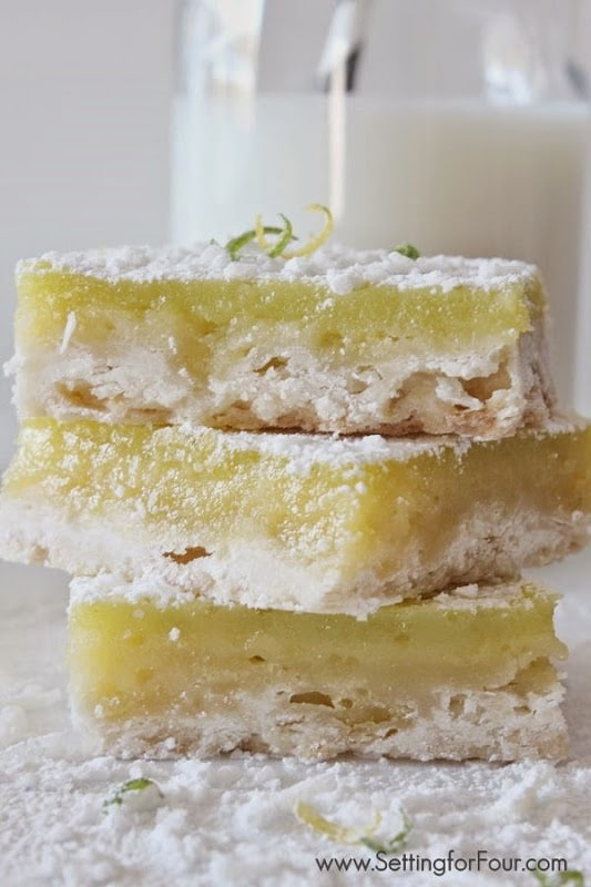 Using Cage-Free eggs make these Lemon-Lime bars so creamy and light!