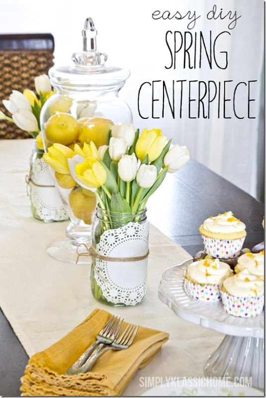 easy everyday spring centerpiece