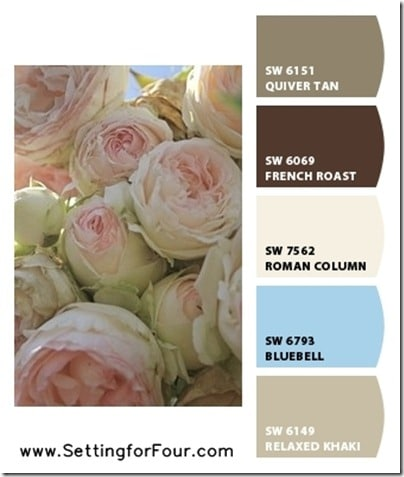 Pink Color Palettes using Sherwin Williams Chip It! from Setting for Four.  Get the skinny here! https://www.settingforfour.com/2013/02/color-palette-pink.html #pink #paint #palette #sherwinwilliams