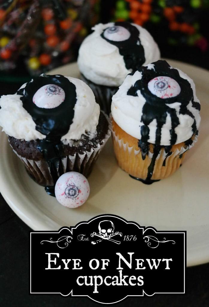Eye of Newt Cupcakes