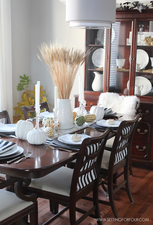 fall home tour part two setting for four. Black Bedroom Furniture Sets. Home Design Ideas