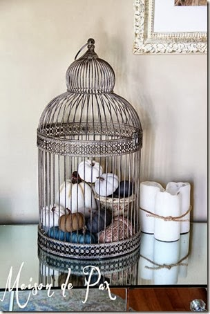 fall entry table birdcage