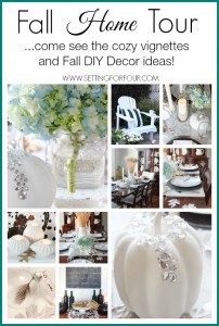 Come see my Fall Home Tour! Cozy vignettes and lots of DIY Decorating Tips! | www.settingforfour.com