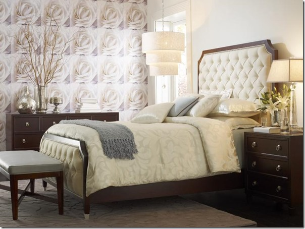 candace olson bed with tufted headboard and footboard