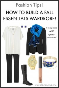 See my fall fashion tips! How to Build a Fall Fashion Essentials Wardrobe with timeless style! | www.settingforfour.com