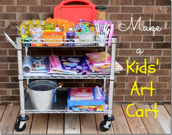 How To Display And Organize Kids Art Setting For Four