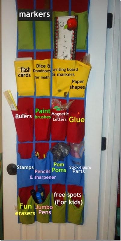 Organizing Kids Art Supplies