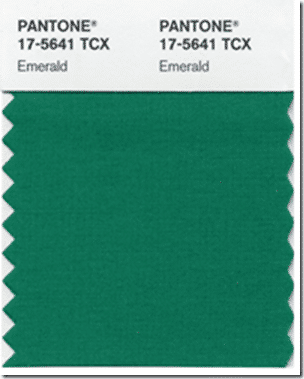 Pantone 2013 Emerald from Setting for Four #color #paint