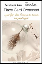 Easy DIY Feather Place Card Ornament