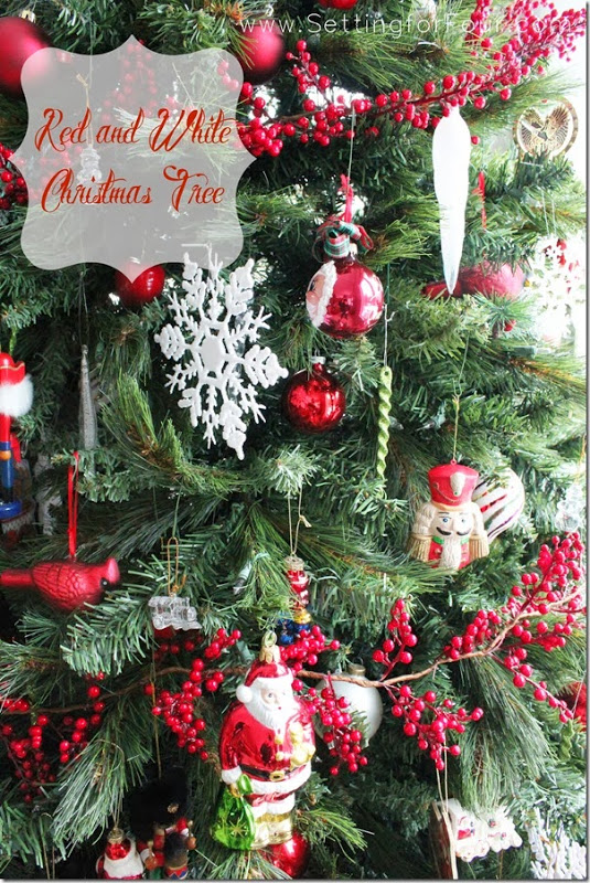 7 christmas holiday decor ideas happy holidays setting Red white christmas tree