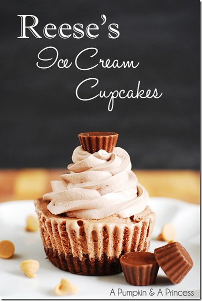 reeses ice cream cupcakes