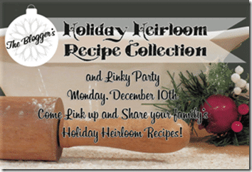 Holiday Heirloom Recipe Collection Linky Party from Setting for Four #Linkyparty #Holiday #Christmas #Recipe