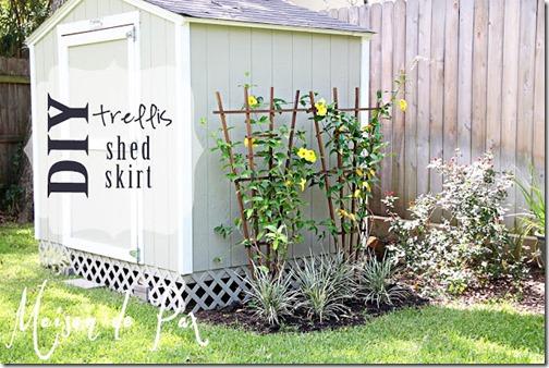 shed trellis sign