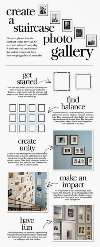 65 plus photo gallery wall layout ideas page 7 of 9 - Stairway photo gallery ideas ...
