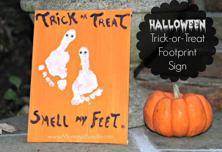 Trick or Treat Footprint Sign