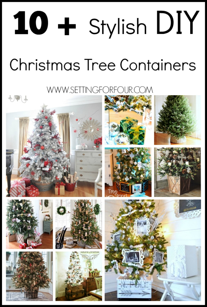10 Plus Stylish Christmas Tree Containers