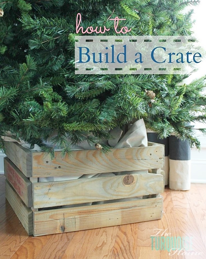 Christmas Tree Crate DIY Tutorial