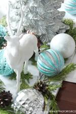 DIY Winter Woodland Glam Christmas Centerpiece